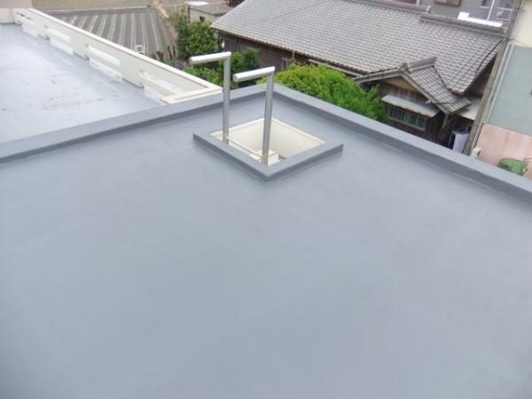 ガレージ陸屋根の防水工事(四国中央市O様邸)