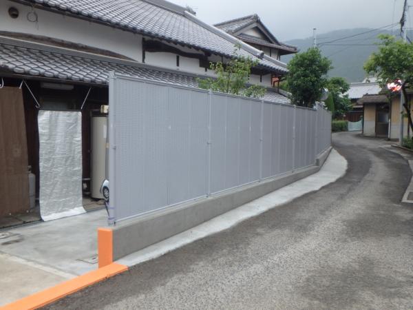 塀やり替え工事